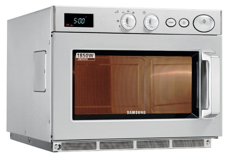 samsung cm1919 powerful 1850w microwave with manual controls c528