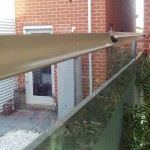 Clear polycarbonate used to increase height of fence