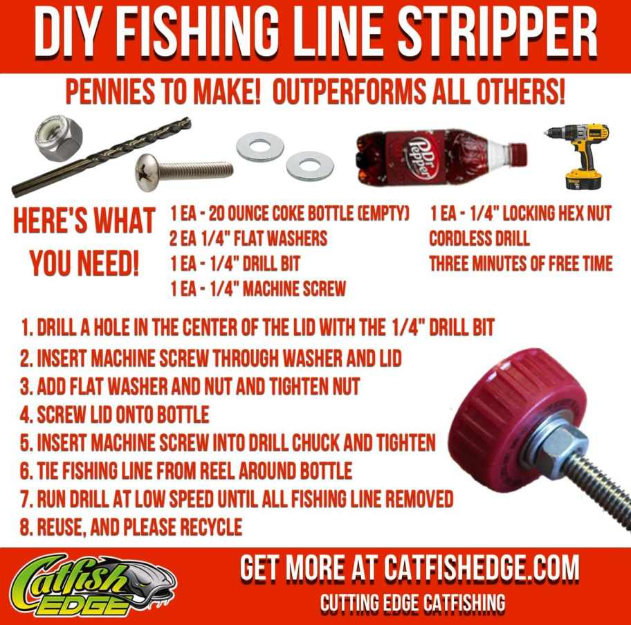 DIY Fishing Line Stripping Tool