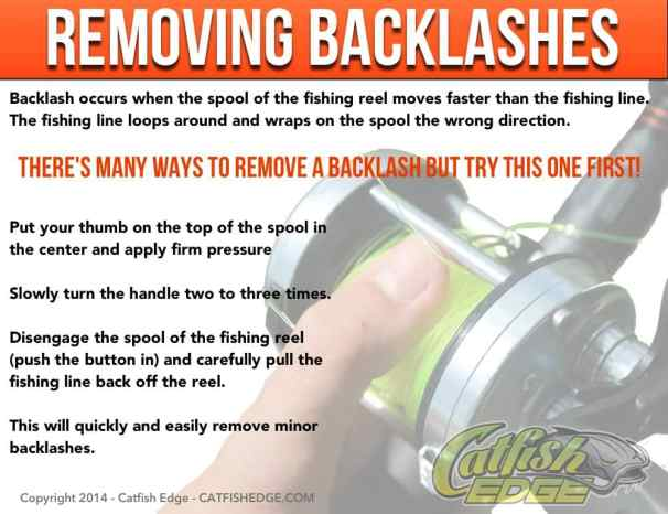 Remove Backlash Baitcast Reel Catfish