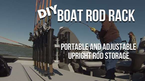 DIY Vertical Rod Rack For Catfish Boats