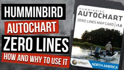 How To Use Humminbird Zero Lines SD For AutoChart Live (and Why)