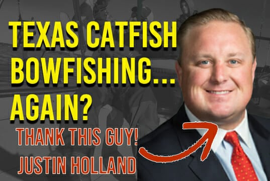 Texas Catfish Bowfishing Justin Holland