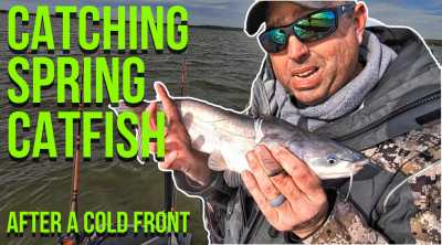 Catching Spring Catfish Cold Front 042419