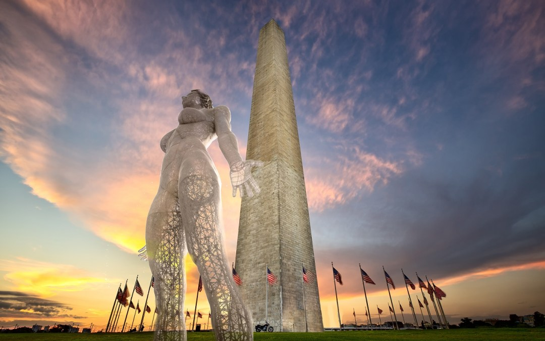 This 45-foot statue of a naked woman could be coming to the Mall for four months