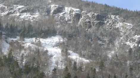 Far right side of Mt Willard's upper east face. The home of some great climbing.