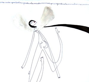 mujer con alas II