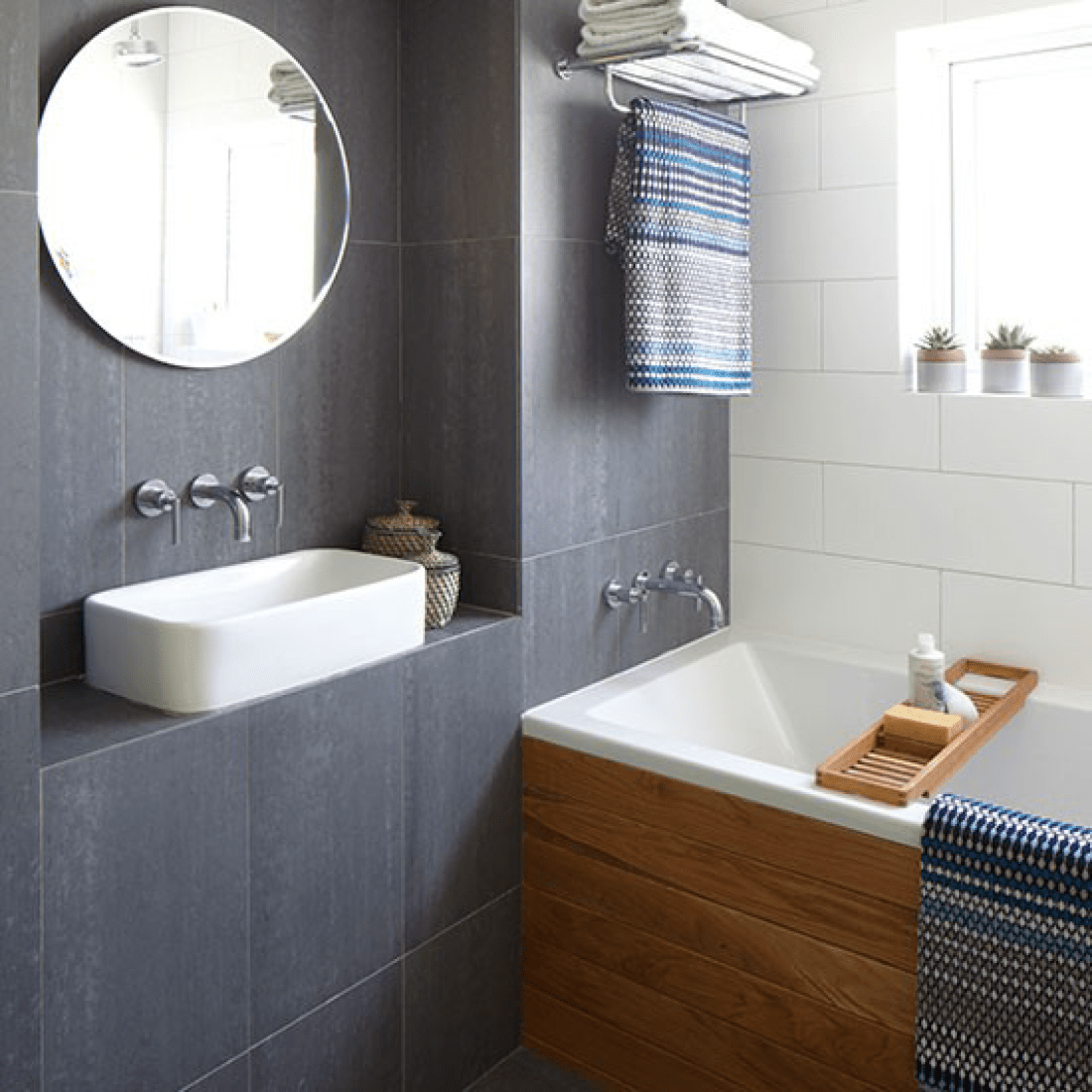 Pros and Cons of using slate tiles in a bathroom.