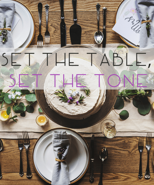 Catherine French Design - Set the table set the tone