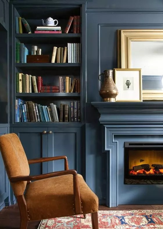 Styled Fireplace Built-in - Catherine French Design