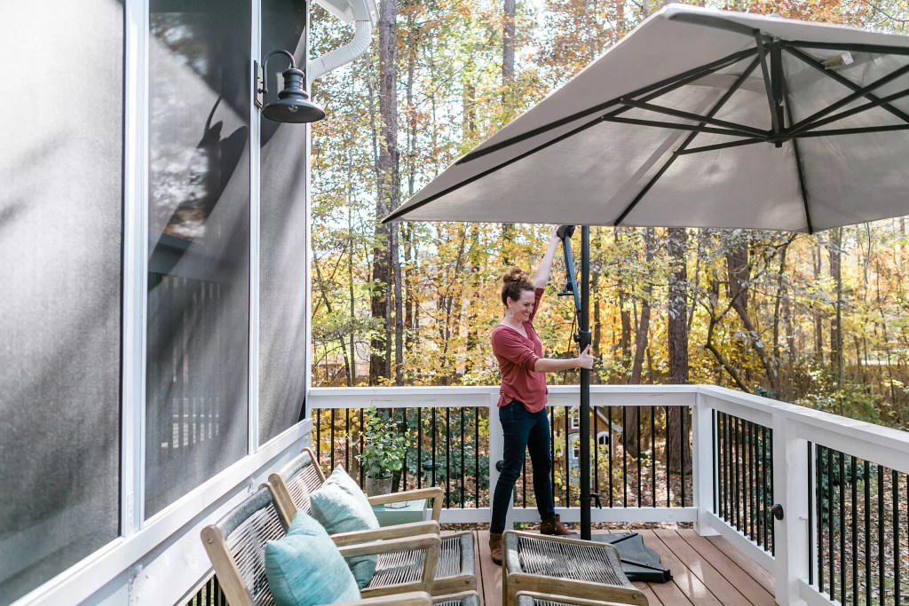 Umbrella for an outdoor space - Cat French Design