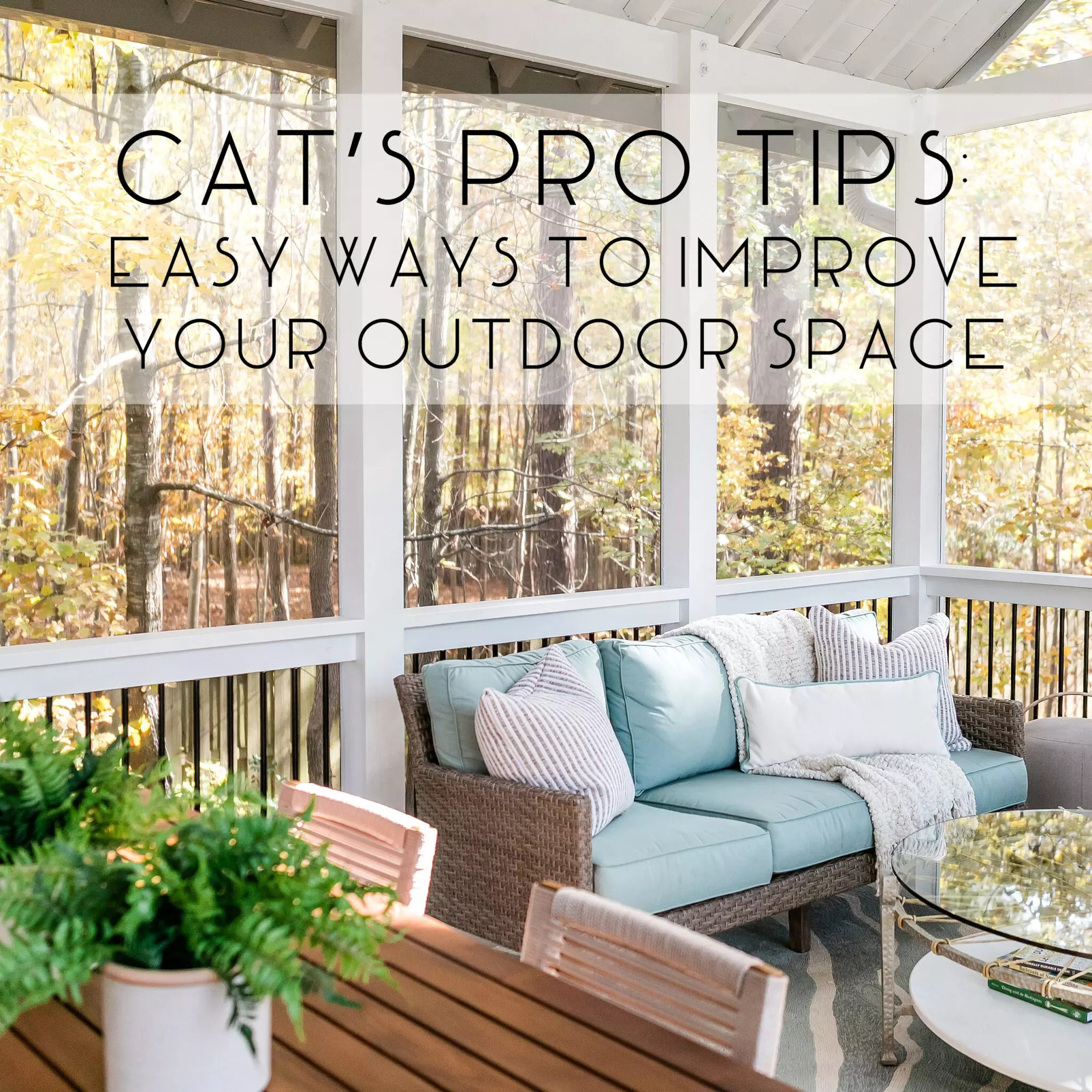 Easy Ways to Improve Your Outdoor Space - Cat French Design