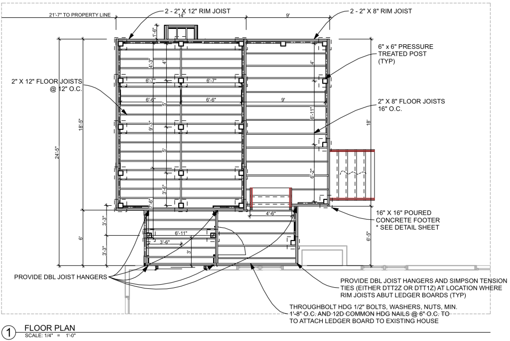 Buildable drawing with Structure Plan Set - Cat French Design
