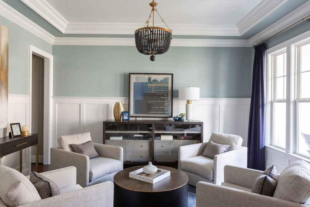 New traditional parlor room - Catherine French design - Chapel Hill