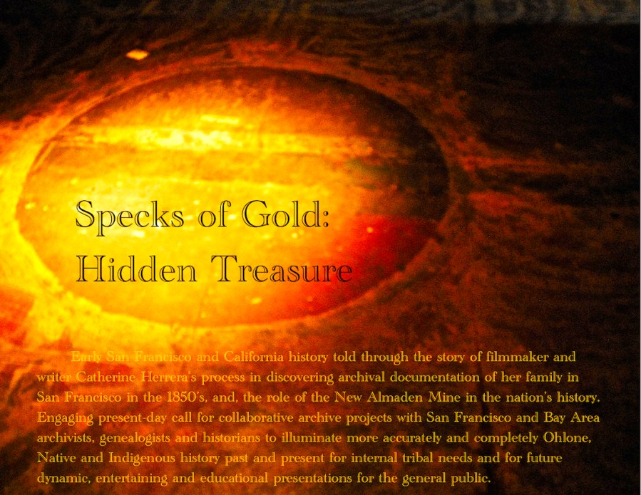 'Specks of Gold: Hidden Treasures,' presentation by Catherine Herrera, filmmaker and artist, about 'Bridge Walkers' installation, March 04, 2017. Contact for License.
