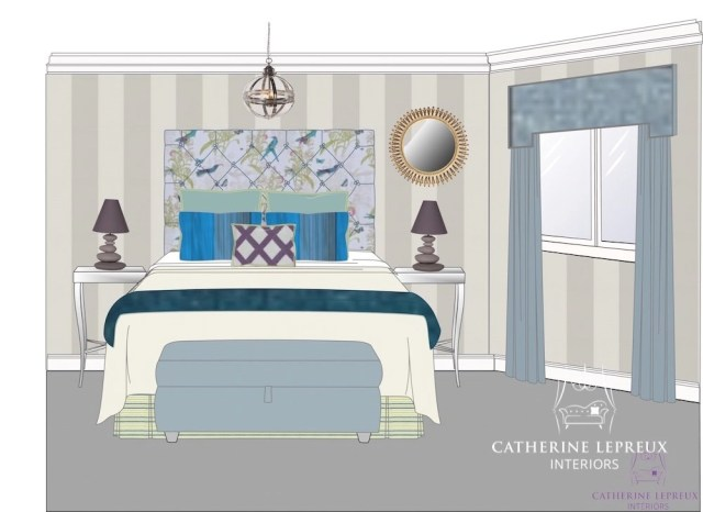 interior design contemporary bedroom visuals
