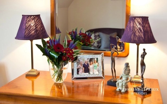 interior design with a purple colour scheme for an Edinburgh private client