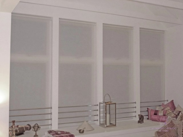 handmade blinds semi sheer voile roller blind Perth
