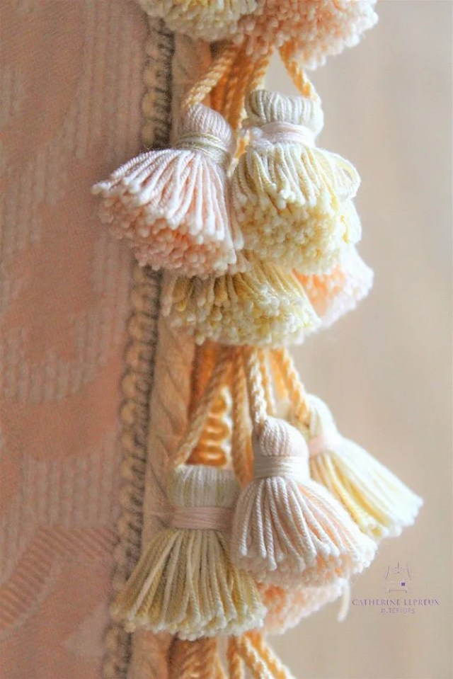 repurposed vintage curtain tassel trimming Fife