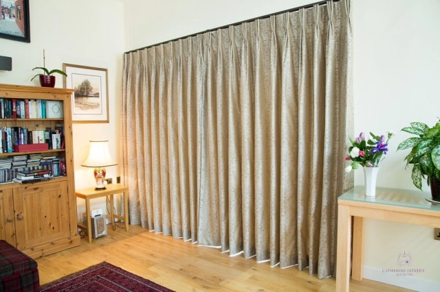 Curtainmaker Edinburgh handmade greige silk curtains