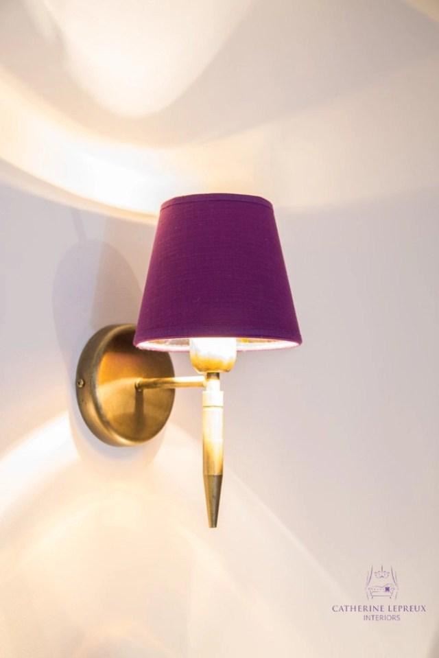 Edinburgh interior design made to order bronze wall light