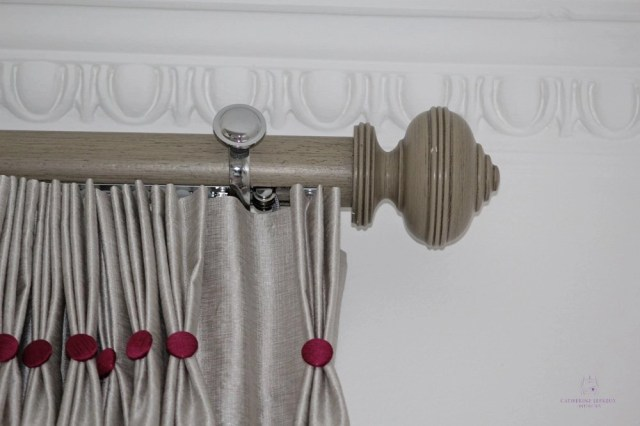 corded wooden curtain pole Byron and Byron