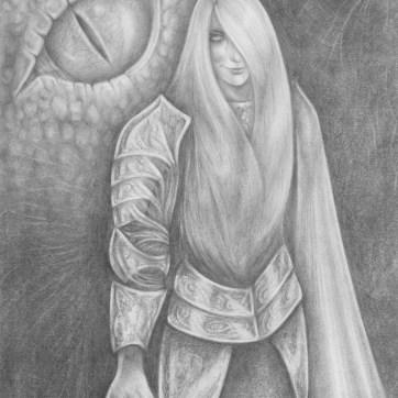 Illustration in graphite.