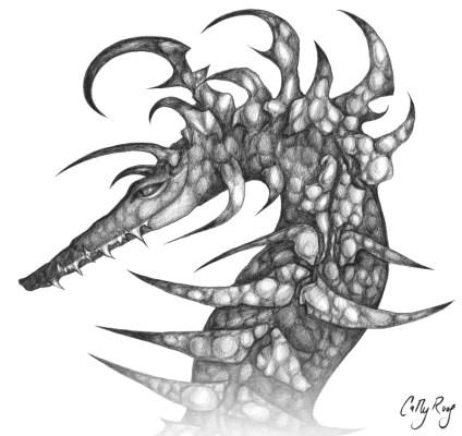 Illustration in ballpoint pen.