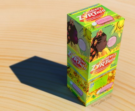 3D mockup of a product package redesign.