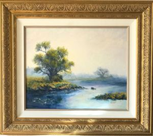 """Glorious Morn, "" Oil on Canvas, 16 x 20"" Framed, $480Original Oil Painting by Catherine Stephens"