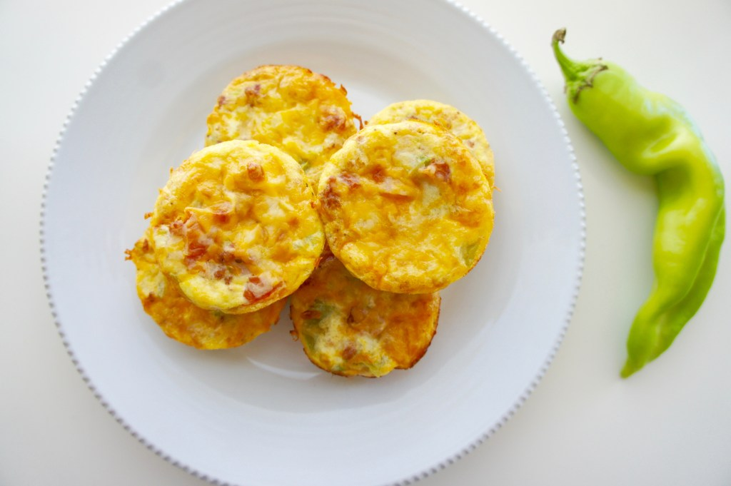 Egg Muffins with Hatch Green Chiles - Breakfast Meal Prep #MealPrep