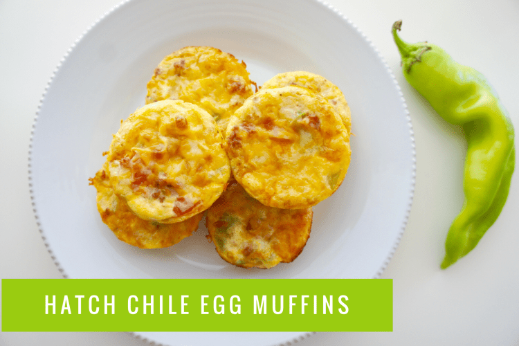 Hatch Green Chile Egg Muffins