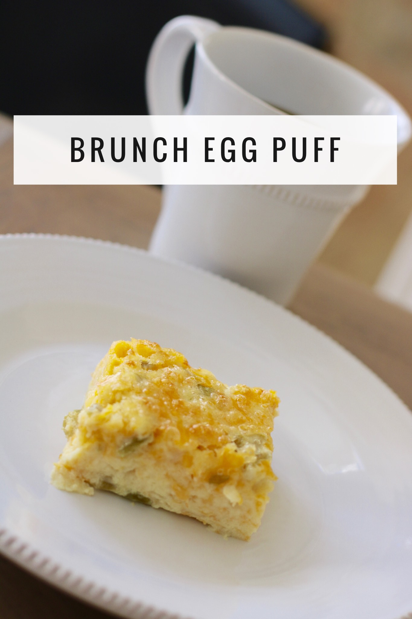Brunch Egg Puff - #Thanksgiving #Recipe #Brunch #Casserole #breakfastcasserole #cheapbreakfast #easybreakfast