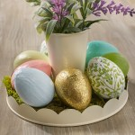 Napkin Decoupage Easter Eggs With Mod Podge Handmade Happy Hour