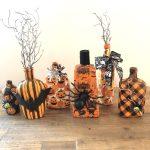 Halloween Bottle Napkin Decoupage Diy Decor Handmade Happy Hour