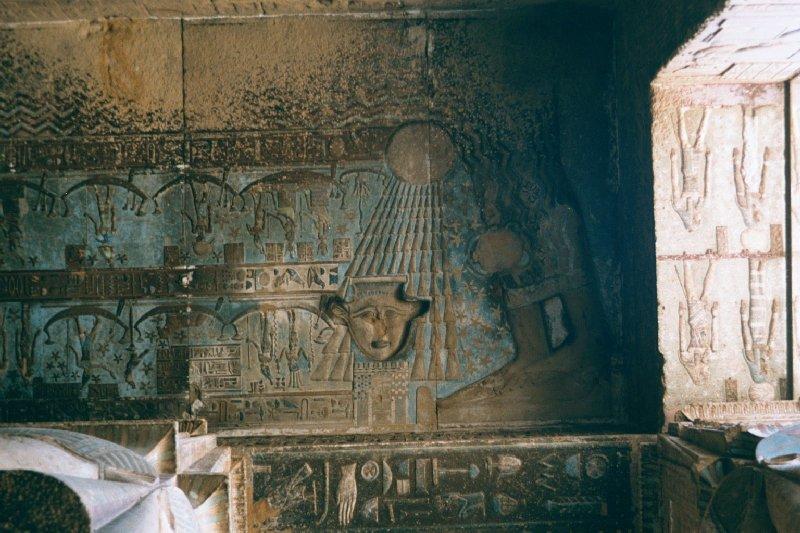 Plafond de la salle hypostyle du Temple de Denderah