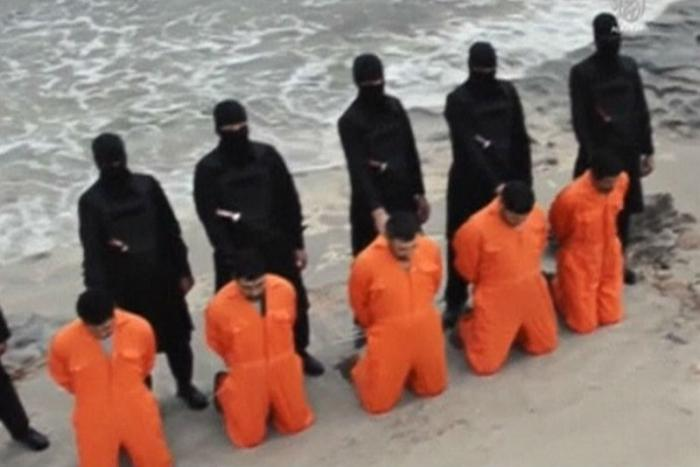 Christians caught by ISIS in Afghanistan are put to death.