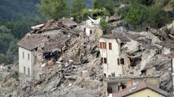 The Italian earthquake has left hundreds dead.