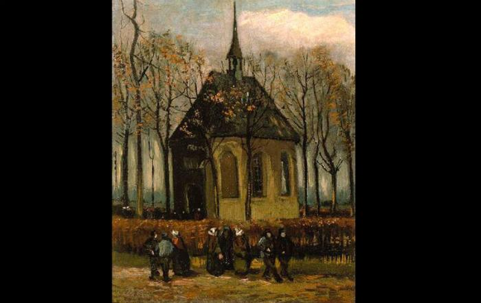 """Congregation Leaving the Reformed Church in Nuenen"" was the second recovered painting."