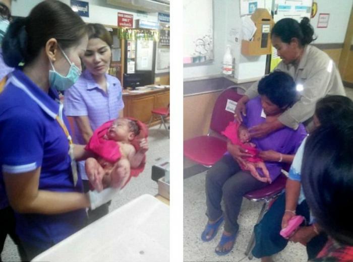 Baby Aiden survived.