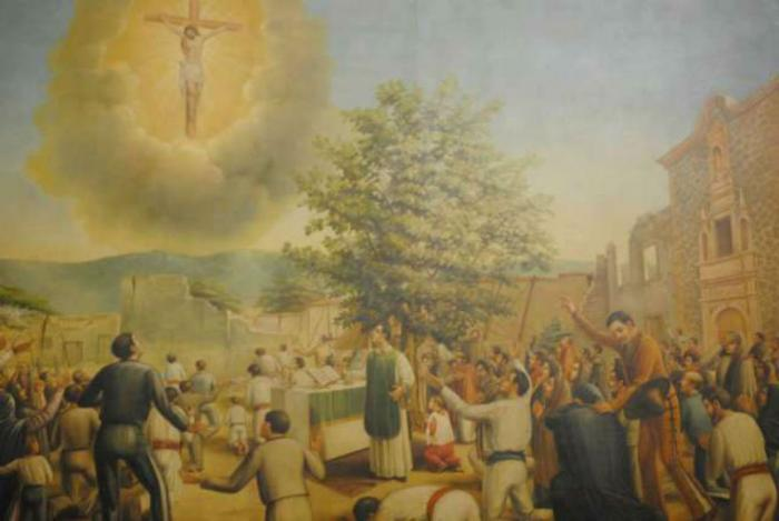 A painting of El SeñorDe La Misericordia De Ocotlán.