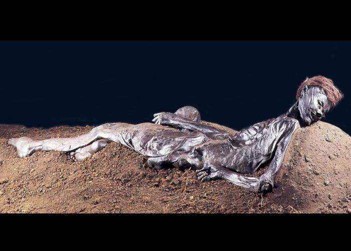Grauballe Man was discovered with his throat slit.