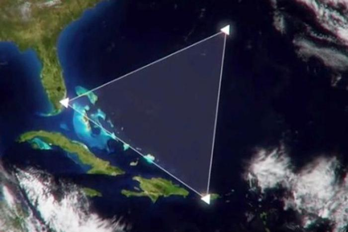 The Bermuda Triangle is an area between the island of Bermuda, the Bahamas and Florida.
