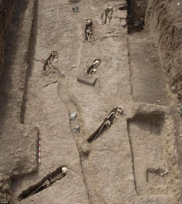 DNA tests revealed four of the graves belonged to the first African victims of the transatlantic slave trade.