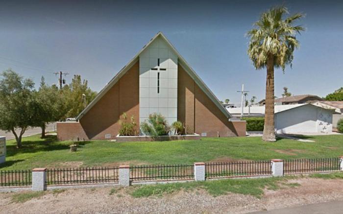 Gutierrez prayed at the St. Joseph Maronite Catholic Church in Phoenix, AZ.