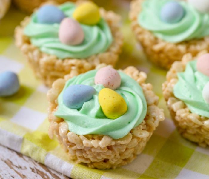 Rice Krispies Easter Cups.