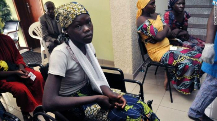 One of the girls had a broken arm upon her return but most appeared to be healthy.