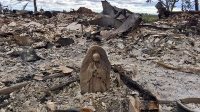 A second statue of the Virgin Mary inexplicably survived Hurricane Harvey and a subsequent fire causing many to notice a pattern.
