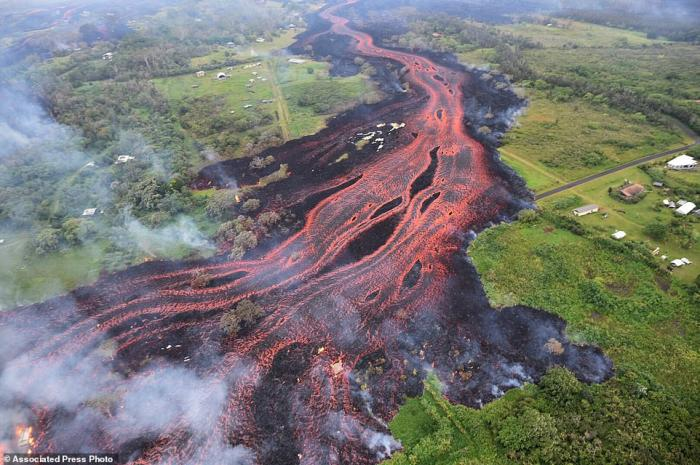 Rivers of lava are flowing faster as fresh lava erupts.
