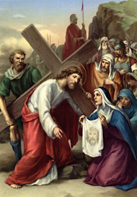 Sixth Station: Veronica wipes the face of Jesus